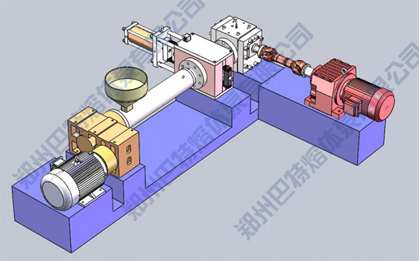 horizontal installation method of melt pump