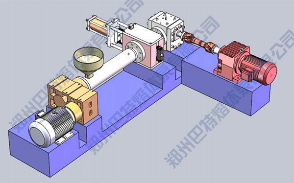 batte melt pump horizontal installation