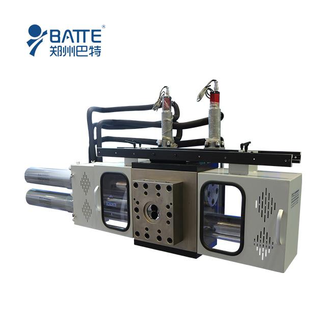 Double piston four screen cavities backflush hydraulic screen changer