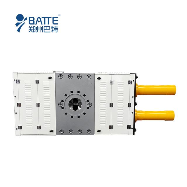 Biodegradable plastic PBAT/PLA hydraulic double-column screen changer